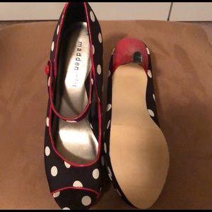 Madden Girl Shoes - Madden Girl polka dot pin-up high heels